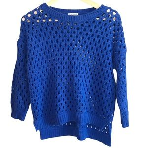 Club Monaco Mesh knit 3/4 sleeve knit sweater